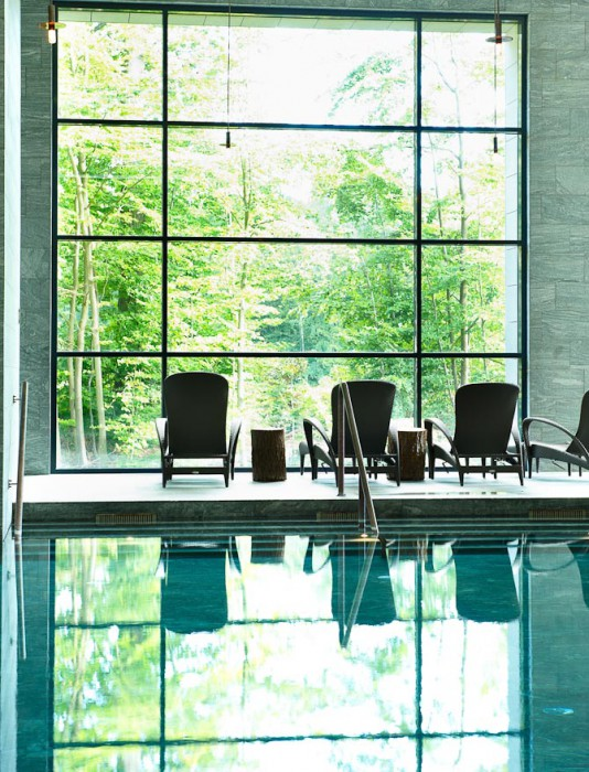 Fra Hotel Vejlefjords spa-afdeling er der direkte udkig til den smukke bøgeskov samt vandet