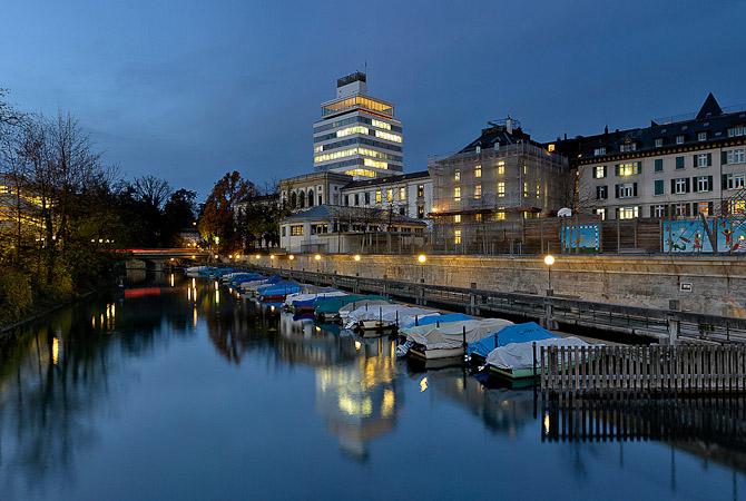 Zürich i skumringstid