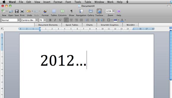 Vær velkommen - for anden gang. Sidste år stod der sjovt nok 2011...