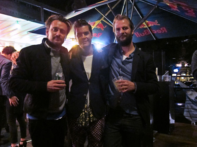 Manden i midten hedder Johan og er fra Sverige. Victor til venstre og Ulrik til højre - de to er fra NN.07