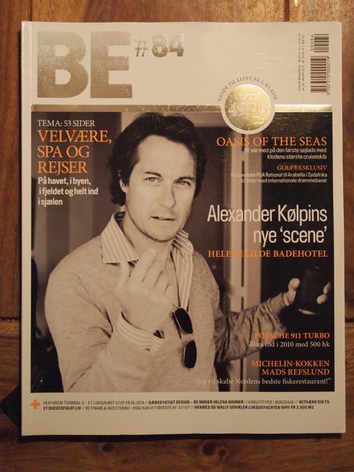 Alexander Kølpin  på forsiden af det sidste nummer af BE, hvor jeg sad som chefredaktør. Forsideportræt: Les Kaner