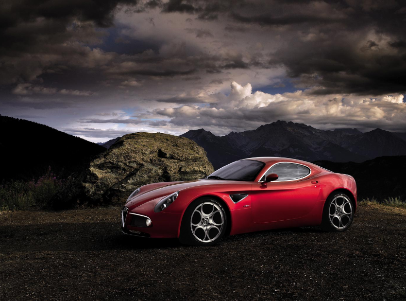 Alfa 8C - en mulig god investering. Smuk? Uh ja.