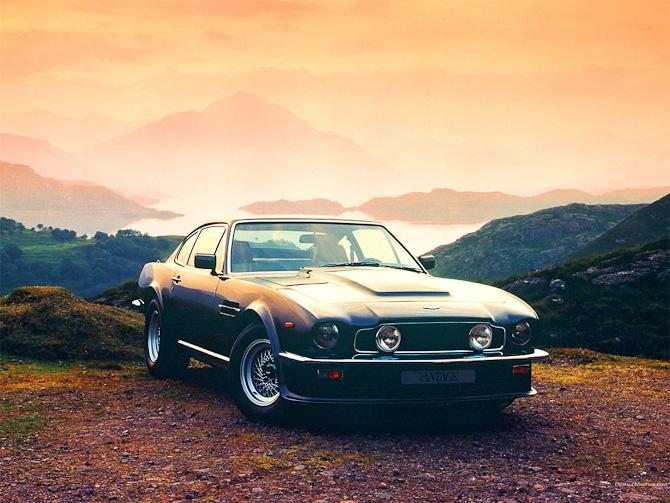 Og En Aston Martin Vantage fra 1977