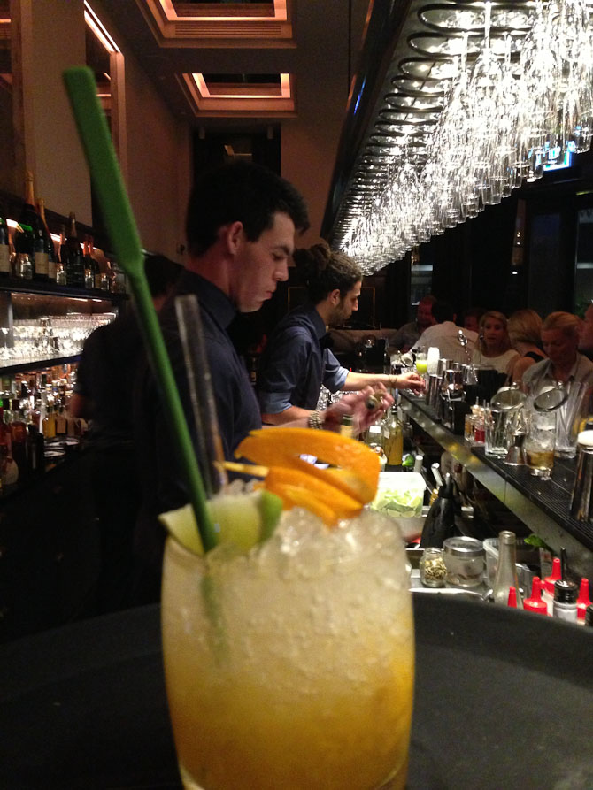 Flaming Zacapa Swizzle