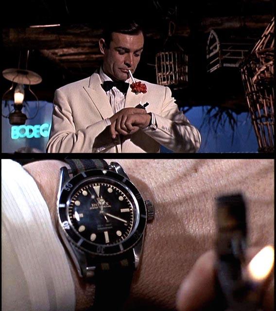 Sean Connery fra Goldfinger med herregear. Foto lånt fra den herlige side www.watchblog.dk