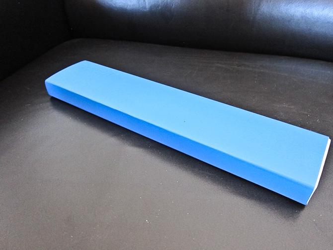 Vi begynder med en blå indpakning