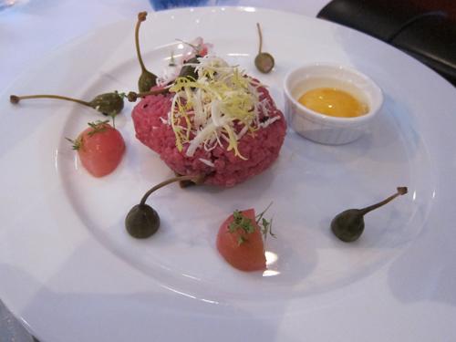 Fin og elegant anretning - frokosttataren på Café Quote