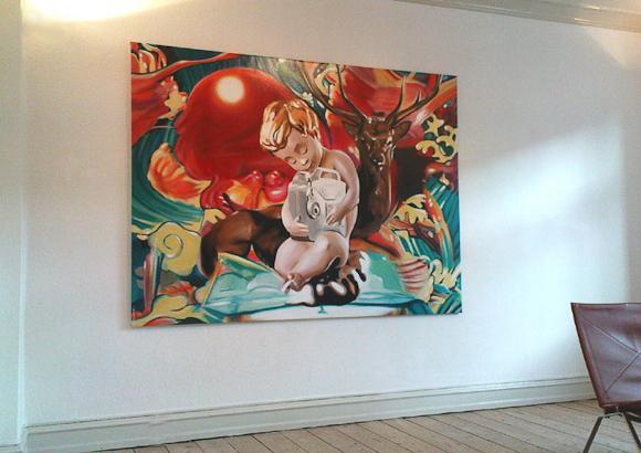 Det er blandt andet dette maleri, som Cay står bag - men det handler også om ure og kunst...