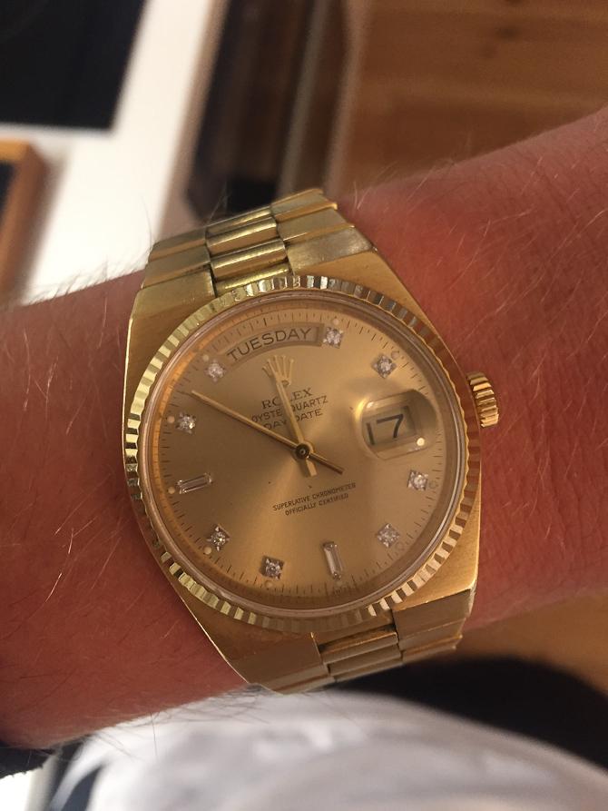 Christian B med Rolex, Oysterquartz 18 karat og brillianter fra de tidlige (og farlige) 80'ere