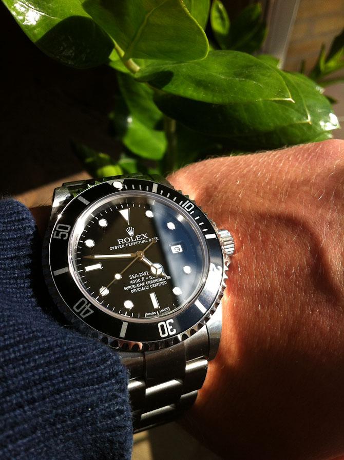 Christian Thomsen med et fint vintage Rolex