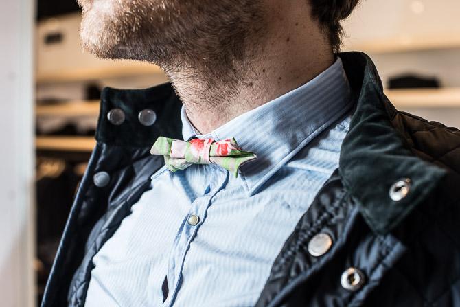 En fin bow-tie - der endda kan afmonteres ganske nemt