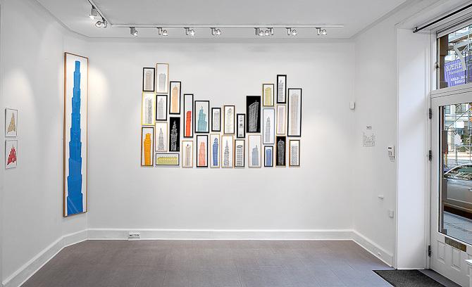 Flere værker sat sammen danner et arkitektonisk motiv i sig selv...