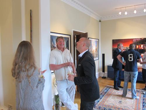 Vi hilste på David Drebin i Hellerup. Alle tiders fyr i øvrigt.