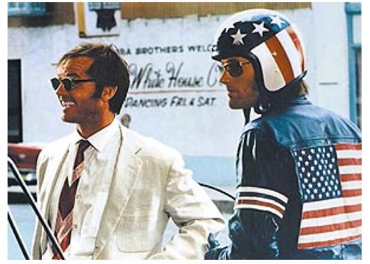 Lidt kornet, men enormt fedt. Jack Nicholson i Easy Rider. Foto: Wikipedia.