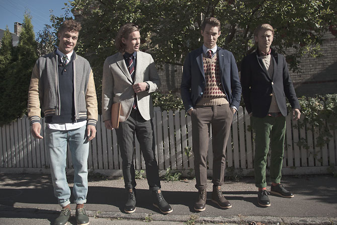 De fire modeller...