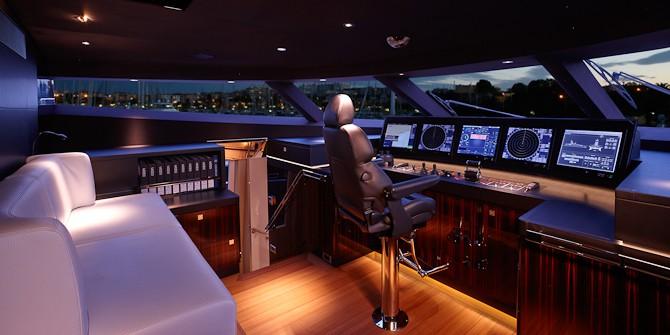 Styreplads og styrepult