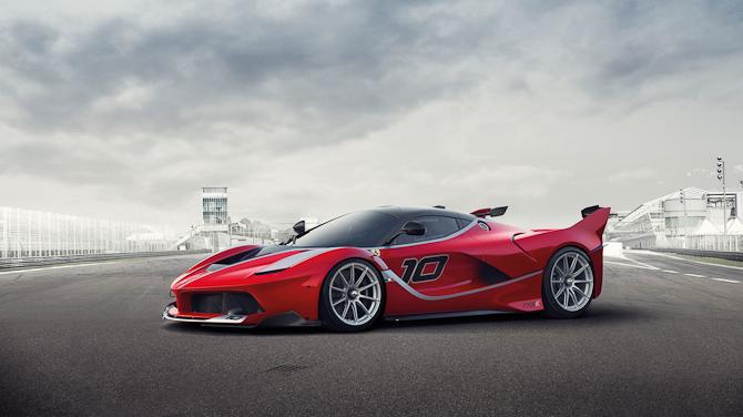 Det er nærmest en speedbådslignende front, den nye Ferrari FXX K er blevet monteret med
