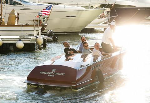 Så skal vi til søs - og sikke en yacht! Foto:  Rob Kim/Getty Images for Frederique Constant