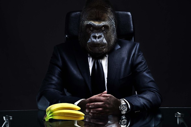 Kreativitet med både banan er og klokke