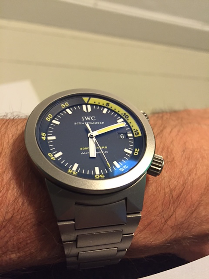 Jan Kroyer med IWC Aquatimer 2000 i titanium