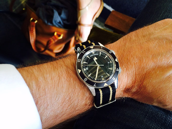 Johnny med Jaeger LeCoultre Memovox Tribute to Deepsea anno 2012
