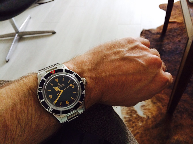 Johnny med et Steinhart Ocean One