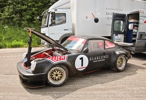 Denne motorkrog er ikke standard. Det er Porsche 911'eren heller ikke.