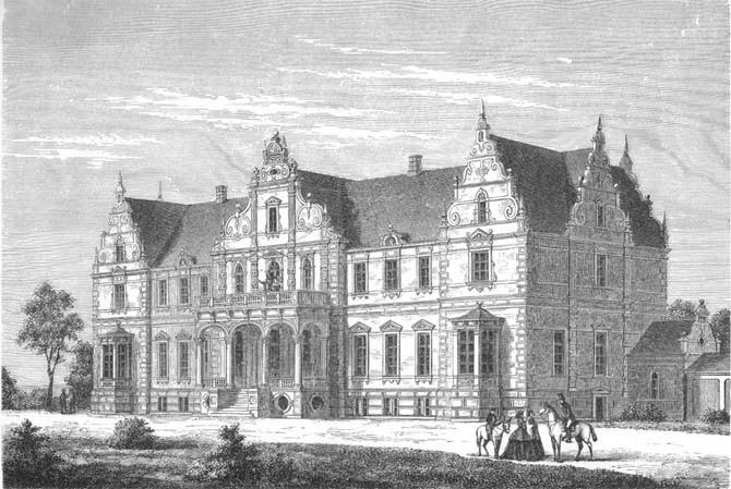 Kokkedal Slot anno 1895. Foto: Wikipedia / Forlagsbureauet i Kjøbenhavn