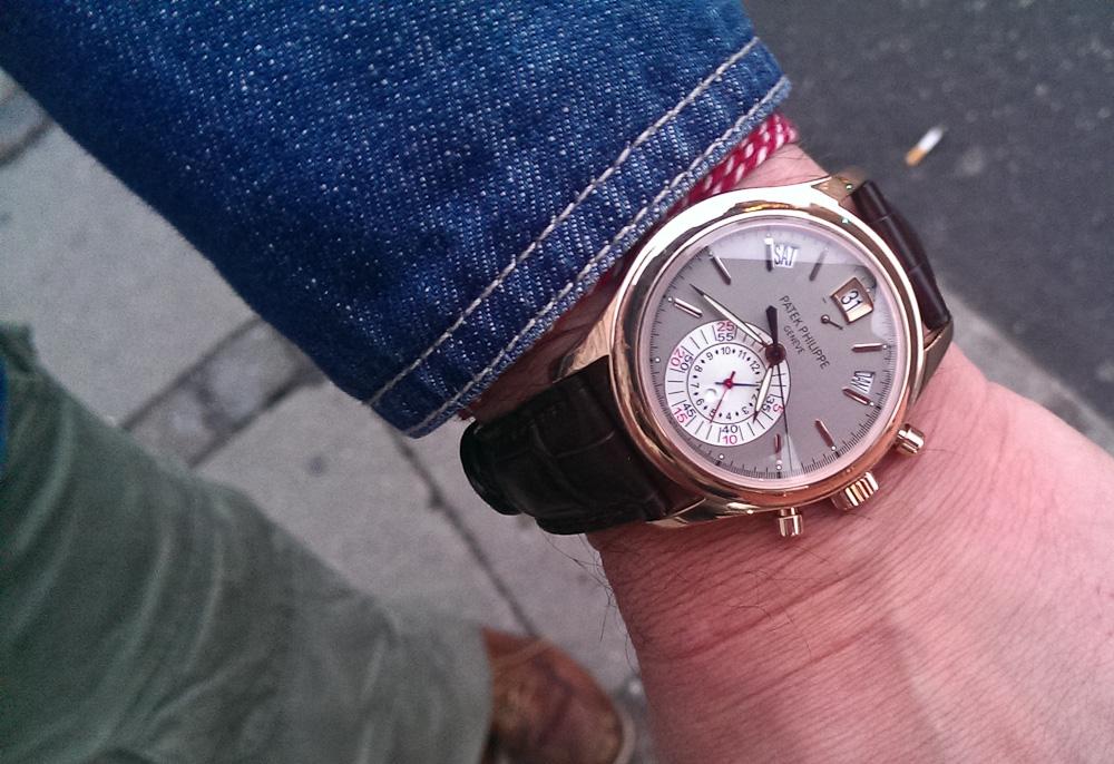 Mark Sinclair spottede dette ur på Kristian Haagen