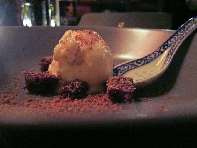 Og selve desserten