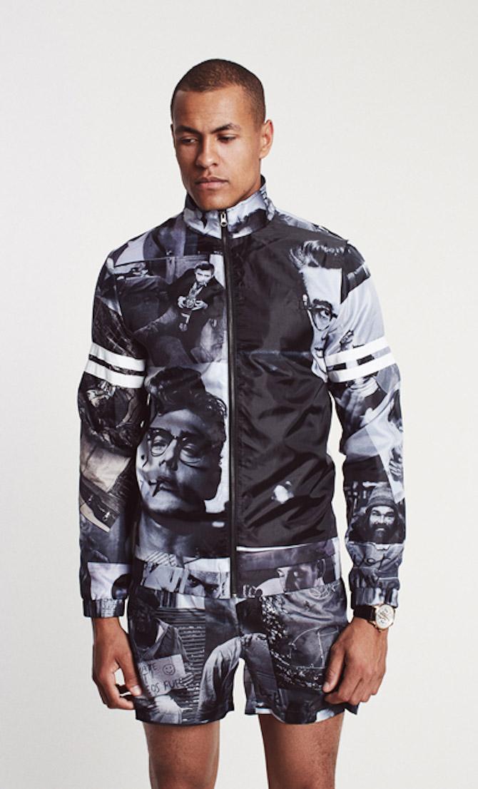 Les Deux track-jacket Dean allover-print 1499kr & swimwear-shorts Dean allover-print 499kr