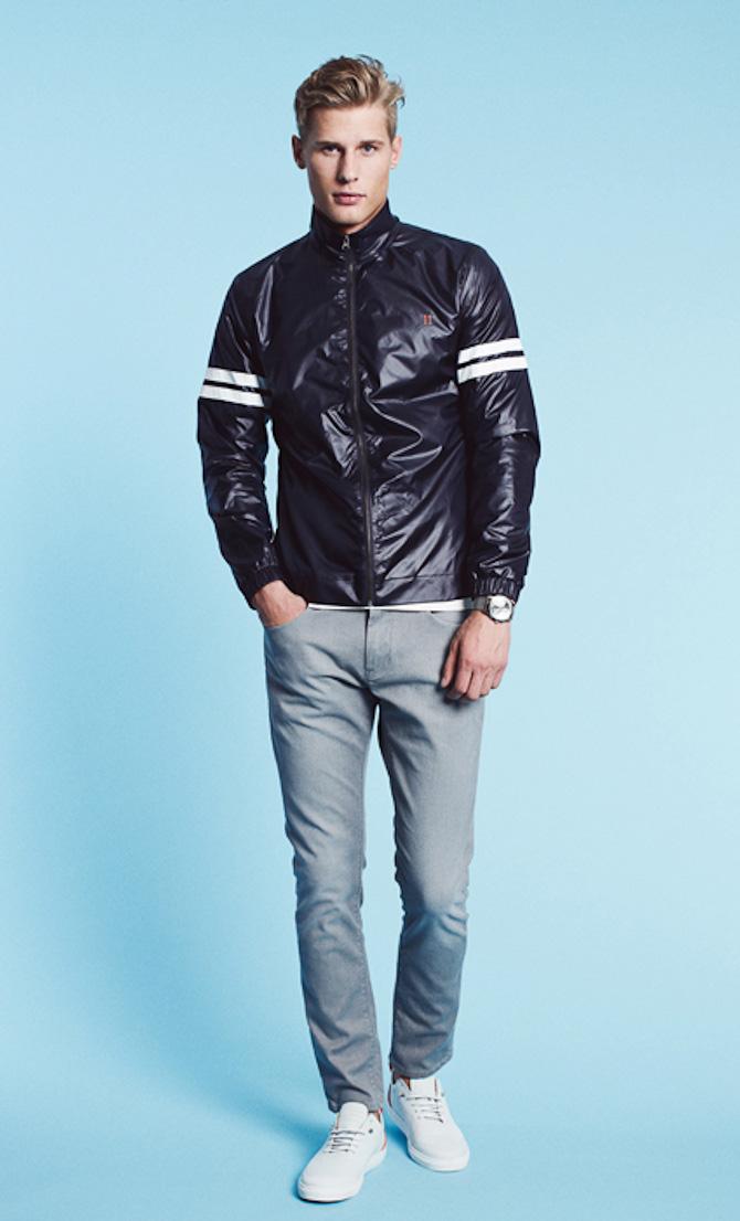 Les Deux track jacket Ray black 999kr