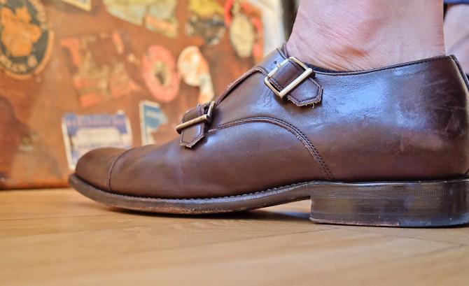 Monk straps fra Morris og italienske strømper - dog med en let soklet i