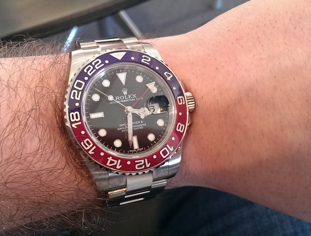 Mark Sinclair med Rolex