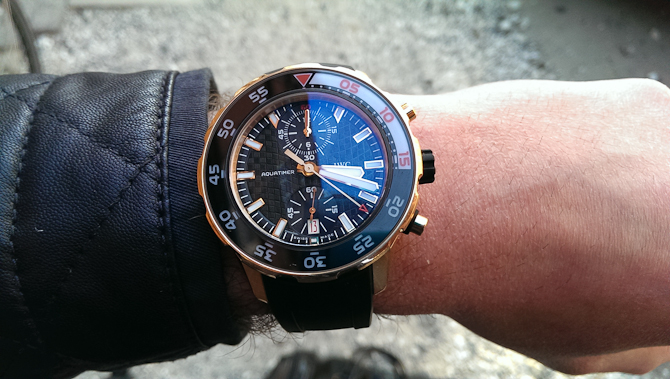 Mark Sinclair med IWC