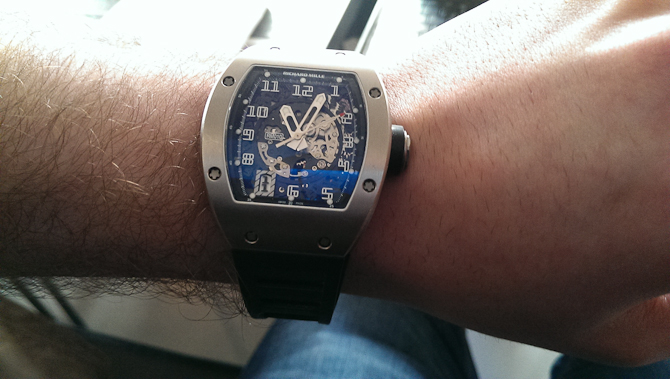 Richard Mille med Mark Sinclair. Eller omvendt.