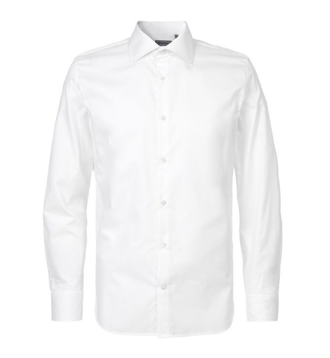 Dikkedar-fri hvid skjorte