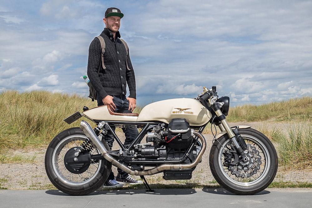 Her er de. Michael og Moto Guzzi'en. Foto: Claus Christensen  http://www.clauschristensen.dk/