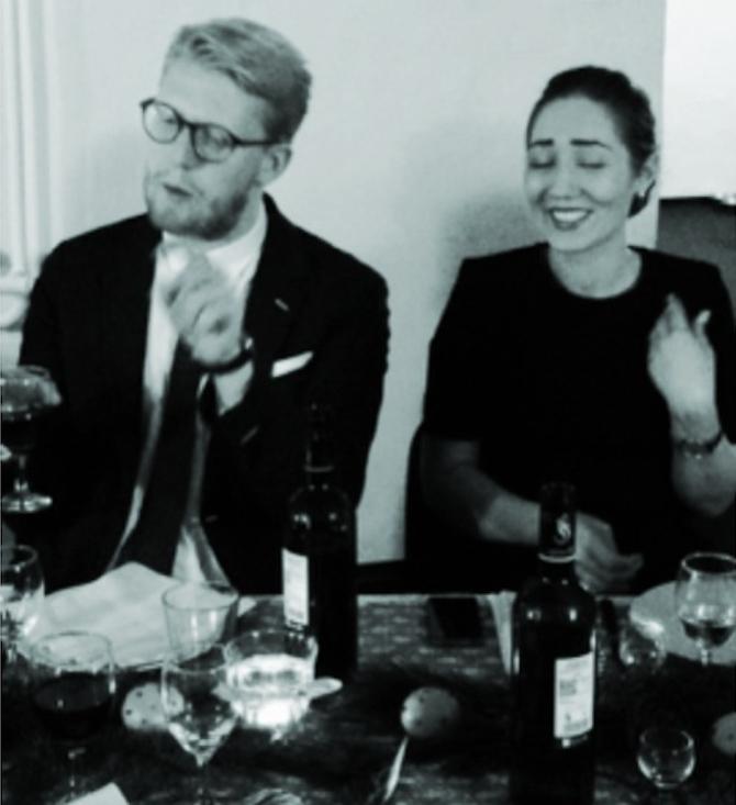 Nikolaj og den rare kæreste, Isabella, som har givet Omega Seamster 30 uret