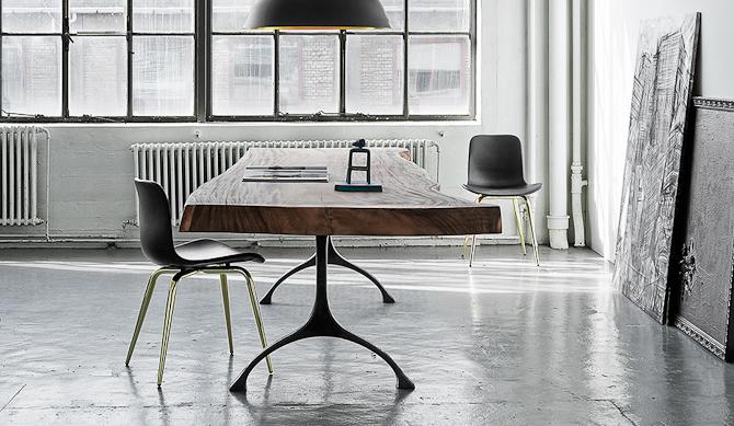 Norr 11 med et rustik bord, som går under navnet Rough
