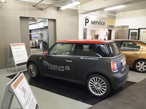 VIParkerer - ny service i parkeringshuset fra august, men her generalprøve med fin beståelse.