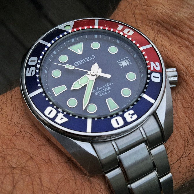 Peter BR med Seiko Sumo Blue med Pepsi