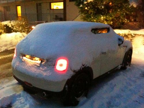 Peters vogntøj var så godt som sneet inde, men han kom vist videre...