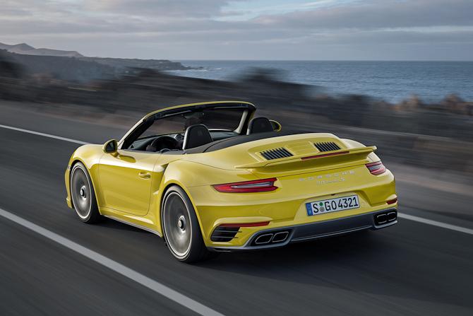 Porsche 911 Turbo S Cabriolet med helt ny bagende