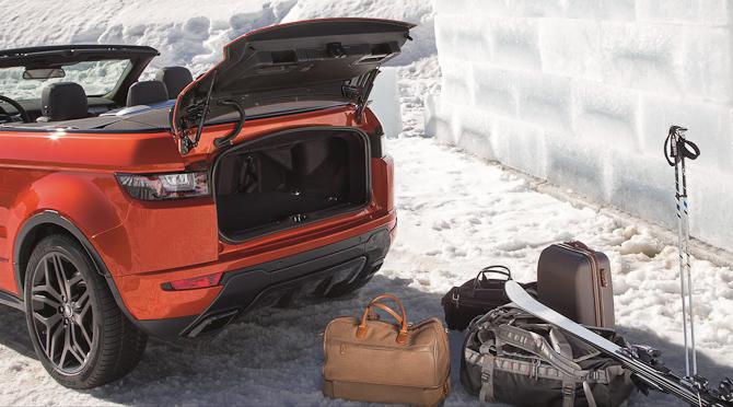 Omend du ikke står på ski, så burde fotoet her illustrere, at der er plads til en fin mængde bagage