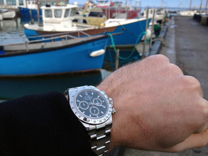 Rasmus Zeuch Daytona 116520 fra 2005. Fotograferet ved havnen på Reersø