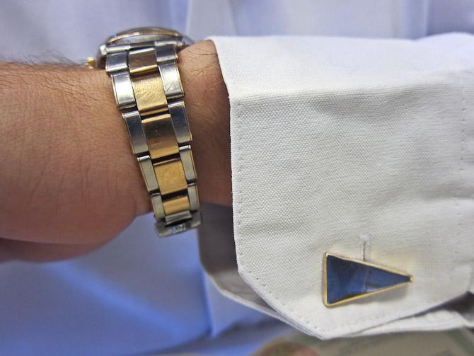 Jeg fik prøvet uret - selv samme dag, jeg havde manchetknapper, som matchede...