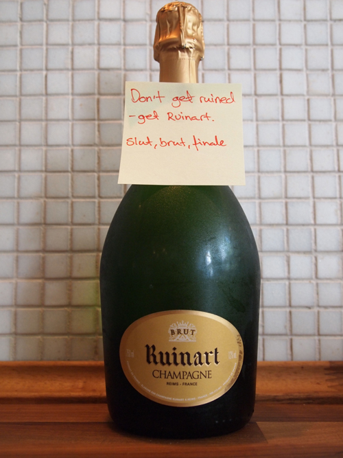 """Don't get ruined - get Ruinart. Slut, brut, finale"""