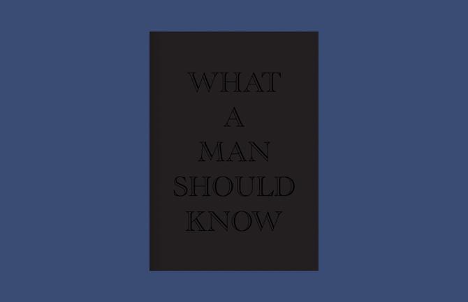 En bog. Til mænd.