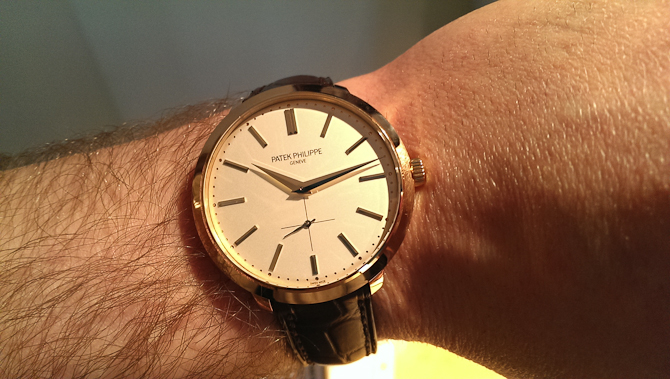 Mark Sinclair med dressy Patek